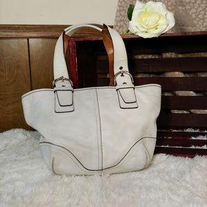 🧡 Off White Leather Soho Coach Bag